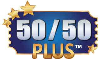 50/50 logo